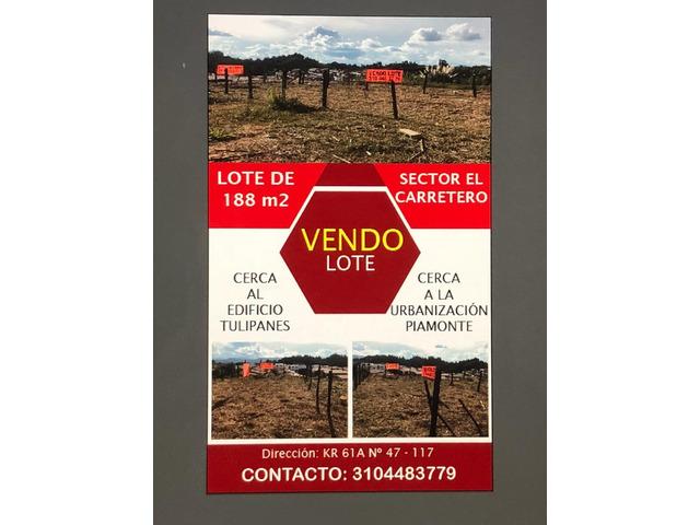 Venta de Lote en Rionegro Antioquia en el sector El Carretero