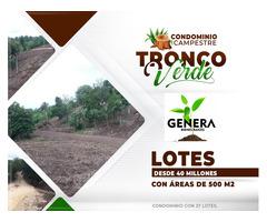 Venta de Lotes en Condominio Campestre Tronco Verde a 5 minutos de la plaza principal de Turbaco